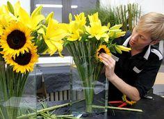 Sunflower Arrangements for Tables   sunflower arrangements   Table Decorations   Pinterest