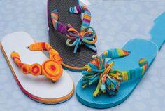 Funky Scrapbuster DIY Flip Flops   AllFreeKidsCrafts.com