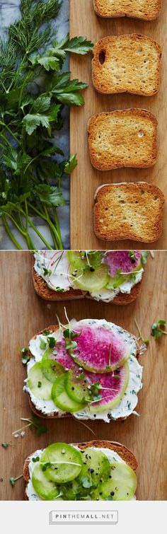 Herbed Goat Cheese & Radish Tartines | Camille Styles ...