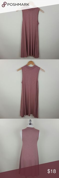 Mock neck soft rose dress Soft rose dusty mauve mock neck dress Content 95% rayon 5% spandex Dresses Midi