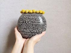 Black and White Ceramic Vase  Home Decor Vase  by PotteryLodge, $135.00