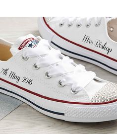 Mono White Custom Wedding Converse l Dead Fresh.co.uk