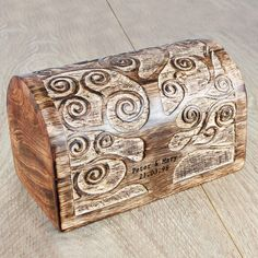 Great 55th anniversary gift for your parents - Personalized Wooden Anniversary Treasure Box which you could fill with photos and memories