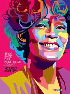 WPAP Witney Houston by wedhahai on DeviantArt: Whitney Houston, Pop Art Portraits, Portrait Art, Art Anime, Art Graphique, Art And Illustration, Illustrations, Face Art, Art Inspo