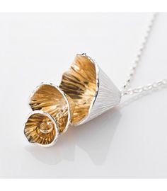 The Shell Cone Collection. Handmade by Martina Hamilton Handmade Sterling Silver, Sterling Silver Pendants, 22 Carat Gold, Irish Jewelry, Gold Hands, Hangers, Ireland, Shells, Plating