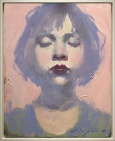 "Malcolm liepke, ""little pink girl"" oil on canvas, 10 x 8 inches Painting People, Figure Painting, Painting & Drawing, Painting Abstract, Acrylic Paintings, L'art Du Portrait, Portraits, Abstract Portrait, Portrait Paintings"