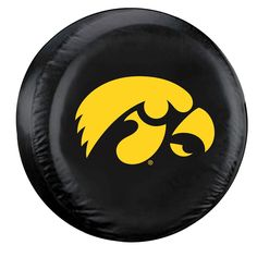 Iowa Hawkeyes Black Tire Cover - Standard Size (Blemished)