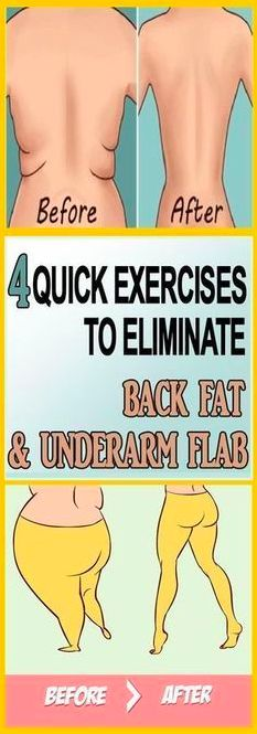 ELIMINATE BACK FAT AND UNDERARM FLAB WITH 4 QUICK EXERCISES – Toned