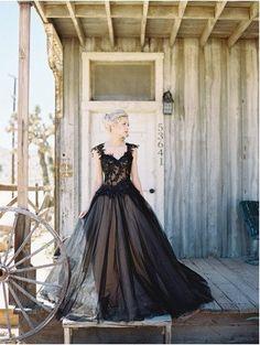 Black Applique Tulle Elegant Cheap Evening Long Prom Dress Ball Gown, BG51495