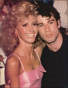 Olivia Newton-John and John Travolta ~ Grease....<3 this movie!!!