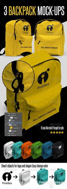 Free download psd GraphicRiver – 3 BackPack Mock-up source