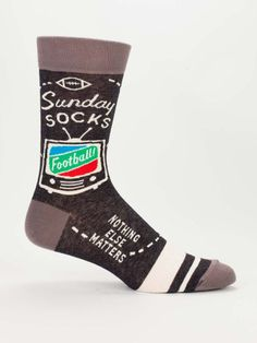 Sunday Socks - Funny, Quirky Men's Crew Socks - Father's Day Gifts