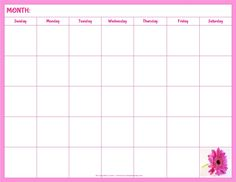 4 Advice That You Must Listen Before Embarking On Blank Calendar Template For Kids Print Calendar, Kids Calendar, Calendar Design, Calendar Printing, Monthly Planner Printable, Printable Calendar Template, Preschool Calendar, 2018 Calendar Template