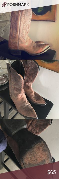 Justin Cowboy / Cowgirl Boots Dark Brown boots. Slightly worn just like I like them 🔮🌵 Justin Boots Shoes Heeled Boots