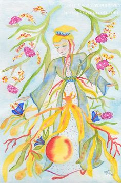 """The Intuitive Art of Rika Dehombreux: About the Intuitive Painting Series: """"Healing Watercolors II"""""""