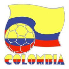 Colombian Soccer Ball Flag