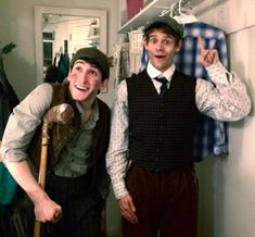 Andrew Keenan-Bolger and Ben Fankhauser switch costumes doe their newsies broadway show Broadway Theatre, Musical Theatre, Broadway Shows, Ben Fankhauser, Jack Kelly, Tuck Everlasting, The Rocky Horror Picture Show, Theatre Nerds, Dear Evan Hansen