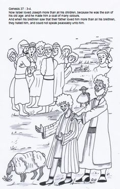 Joseph and the coat of many colors ~ Sunday School ideas