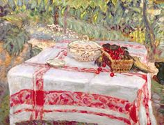"""Still Life with Tablecloth"", Pierre Bonnard"