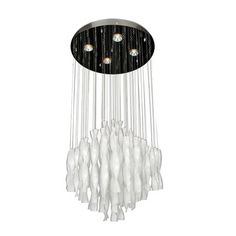 Bethel International LX23 LX SERIES 4 Light Opaque Multi Light Pendant This product from Bethel International is available in a chrome finish. Illuminated