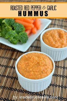 Roasted Red Pepper & Garlic Hummus. light lunch option