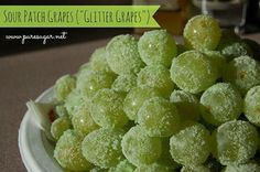Sour Patch grapes! No more candy for me! 0 WEIGHT WATCHER POINTS! Other snacks recipes too.