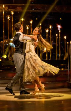 SCD week 2, 2016. Louise Rednapp & Kevin Clifton. Vienniese Waltz. Credit: BBC / Guy Levy