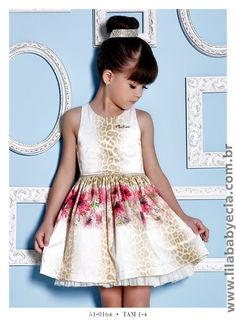 Vestido Infantil Miss Cake Doce Princesa 510164