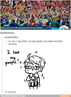 God bless this post<<<Now if only there were a Hetalia fan cosplaying as Alfred >> where's waldo tho, can't see him My Tumblr, Tumblr Posts, Tumblr Funny, Funny Memes, Hilarious, Jokes, Funny Shit, Hetalia America, Hetalia Funny