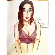 Did a lil bit of art for someone on /r/redditgetsdrawn I always love an excuse to draw pretty women and practice bodies so this was a good one for me!   #art #artwork #sketchbook #scribbles #doodles #artist #artistsoninstagram #swatches #colour #journal #watercolours #study #pencils #tumblr #Aesthetic #pale #paint #painting #watercolour #girl #pretty #cute #ink #artstagram #drawing #inking