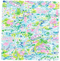 Lilly Pulitzer Iphone Wallpaper, Lilly Pulitzer Prints, Conversational Prints, Instagram Worthy, Pretty Wallpapers, Surface Pattern, Pattern Wallpaper, Watercolor Art, Golf