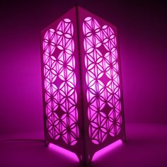 Surface Grooves Flower Of Life Table Lamp