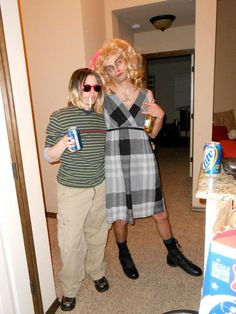 Kurt Cobain and Courtney Love drag costumes