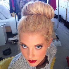 { red lip } Mae West, cute wedding dress French Braids The Olsen Twins Long Hair Dos, Long Hair Styles, Cute Wedding Dress, Look At You, Great Hair, Gorgeous Hair, Pretty Hairstyles, Pretty Face, Bridal Hair