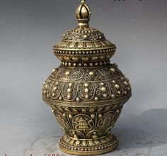Old Tibet Royal Brass 8 Auspicious Symbol Statue Incense Burner Censer Jar Pot-in Metal Crafts from Home & Garden on Aliexpress.com | Alibaba Group