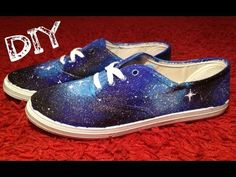 ✄ DIY galaxy shoes! - YouTube