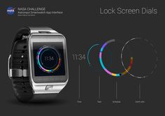 Entri Kontes WatchKit #196 untuk NASA Challenge: Astronaut Smartwatch App Interface Design.