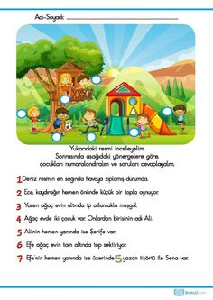 Picture Composition, Turkish Language, Diy And Crafts, Homeschool, Ads, Activities, Humor, Children, Books