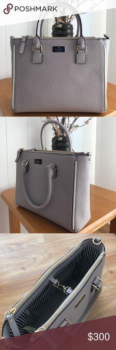 "Kate Spade marga Kate Spade marga. Gray/purple color. Handle drop 4.75"" kate spade Bags"