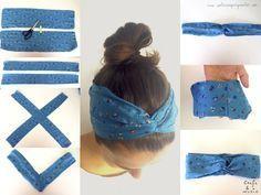 como hacer bandanas para el cabello - Buscar con Google