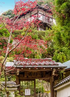 Part of the Daisho-in Buddhist temple complex on Miyajima island, Japan