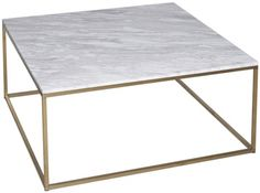 Buy Gillmore Space Kensal Marble Coffee Table - with Brass Base Square online by Gillmore Space from CFS UK at unbeatable price. 7 to 21 Days Delivery.£719