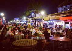 The KK Waterfront is one of the best places to have dinner drinks and watching the beautiful sunset.  You can find halal food  seafood Italian food and a variety of bars & bistros along this fun place in Kota Kinabalu Sabah.  #makansabah #sabah #borneo #malaysia #kkcity #kotakinabalu #kkwaterfront #sunset
