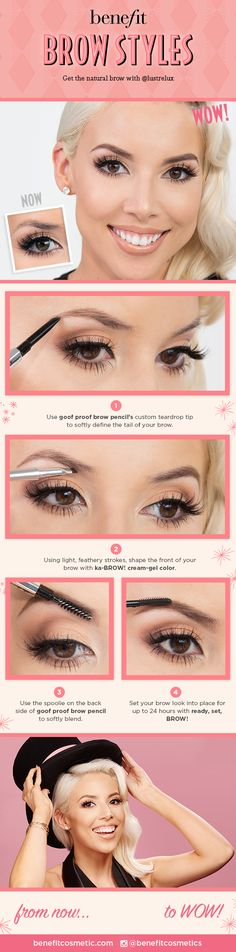 Get the natural brow with @lustrelux and Benefit Cosmetics. Products available online and in stores at #Sephora