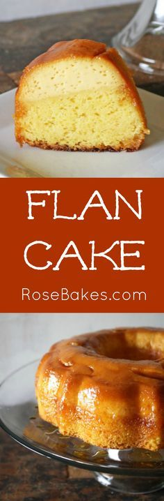 A delicious, super-moist, caramel-y flan… with cake! This sounds and would be so incredibly delicious! Just Desserts, Delicious Desserts, Yummy Food, Flan Cake, Rum Cake, Cake Recipes, Dessert Recipes, Flan Recipe, Comida Latina