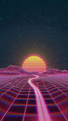 Retro wave synth wave