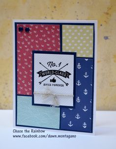 CTMH 'Stamps of Approval' and Regatta paper pack. Love this nautical theme! www.facebook.com/dawn.montagano