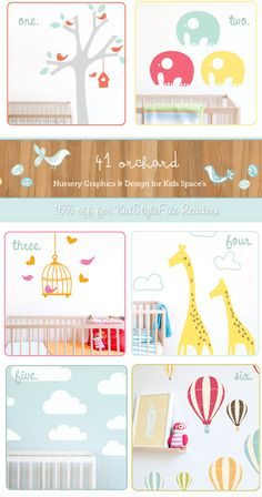 41 Orchard – Lush Nursery Wall Stickers & Decals: New Designs In Store + 15% Off Storewide For KSF Readers