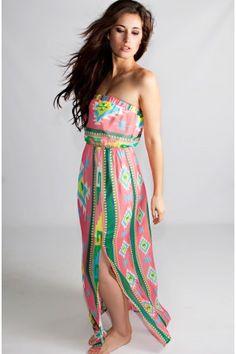 The Sahara Maxi Print Dress- LA Posh Style