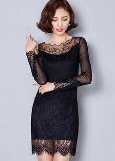 Fashion Women Slim Sexy Lace Dress